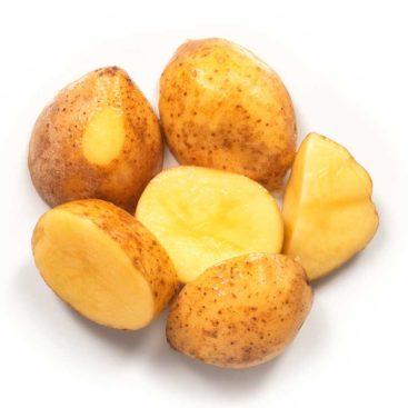 Mini-kartoffel halb