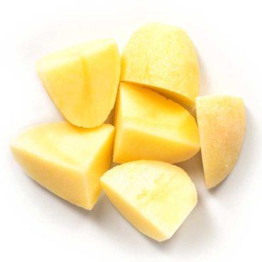 Schälkartoffeln geschnitten