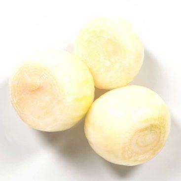 Schälzwiebel Weiß ganz